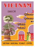 Vietnam, Saigon (Ho Chi Minh City), Vietnam National Tourist Office Prints