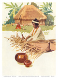 Hawaii Samoa Fiji Australia, Steamship SS Maui, Matson Navigation Company Prints by Maurice Loram