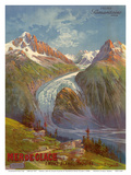Mer de Glace (Sea of Ice) Glacier, Mont Blanc (Savoie) Alps, France, Prime Samaritaine Paris Prints by Hugo D'Alesi
