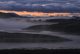 Pre Dawn Fog at Yellowstone River, Wyoming Photographic Print by Vincent James