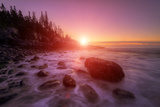 Sunrise Light and The Atlantic Coast, Maine Photographic Print by Vincent James