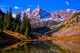Maroon Bells Photographic Print by Beelde / Photography by Daniel Huerlimann