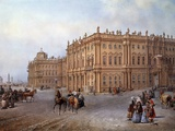 View of the Winter Palace in Saint Petersburg in 1843 by Vasily Sodovnikof Photographic Print