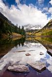 Mountain Lake Reflection with Fall Color's. Aspen, Colorado. Photographic Print by Dan Ballard