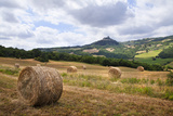 Straw Bales in an Italian Tuscan Landscape Photographic Print by Andrew Bret Wallis