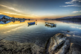 Sunset in Bafa Lake, Turkey Reproduction photographique par Nejdet Duzen