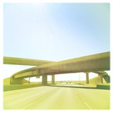 Cross Bridge over Road Photographic Print by A L Christensen