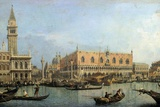The Molo from the Basin of San Marco, Venice by Canaletto Photographic Print