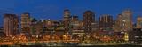 Usa, Colorado, Denver, Panoramic Cityscape at Night Photographic Print by Henryk Sadura