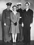 Navy, Marine, Army Officers Photographic Print by George Marks