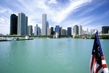 Chicago Skyline and Lake Michigan, Chicago, IL Photographic Print by Hisham Ibrahim