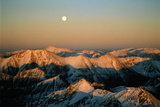 Usa, Colorado, Aspen, Moonrise over Rocky Mountains Photographic Print by David Hiser