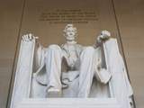 Usa, Washington Dc, Low Angle View of Lincoln Memorial Photographic Print by  Fotog
