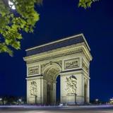 Arc De Triomphe, Champs-‰Lysées, Paris, Ile-De-France, France Photographic Print by Arcangelo Piai/SOPA RF