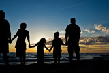 Family on Beach Photographic Print by Randy Riksen Photography