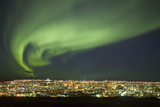 Aurora Borealis over Reykjavik Photographic Print by  Arctic-Images