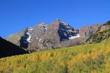 Maroon Bells Peaks in Fall, Colorado Photographic Print by John Kieffer