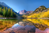 Maroon Bells in Fall Photographic Print by Dave Soldano Images