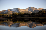 The Rocky Mountains are Reflected in Molas Lake near Silverton, Co. Photographic Print by Chris Bennett