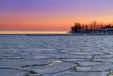 Frozen Lake Ontario Sunset Photographic Print by Frank Lee