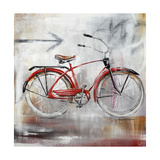 Bicycle Lane Giclee Print by Sydney Edmunds