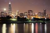 Usa, Illinois, Chicago Skyline at Dusk Photographic Print by Henryk Sadura