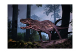 Postosuchus Was an Extinct Rauisuchian Reptile That Lived During the Triassic Period Art