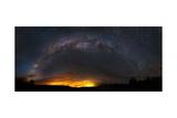 Milky Way and the Rim Fire in Yosemite, California Prints