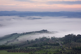 Foggy Morning Val D'orcia Photographic Print by Jeremy Woodhouse