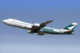 A Boeing 747-800 Cathay Pacific Cargo Hong Kong Trader Photographic Print