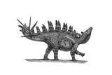 Pencil Drawing of Chungkingosaurus Jiangbeiensis Posters