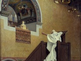 Saint John Chrysostom Confronting the Empress Eudoxia by Jean Paul Laurens Photographic Print