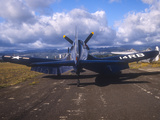 A Chance Vought F4U Corsair on the Ford Island Airfield, Oahu, Hawaii Photographic Print