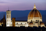 Florence Catherdral (Duomo) Illuminated at Dusk Photographic Print by Sir Francis Canker Photography