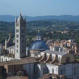 Siena Cathedral Overlooking Village Photographic Print by Cultura Travel/Cadalpe