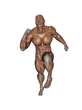 Muscular Man Running Poster