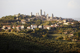 San Gimignano Viewed across Vineyards Photographic Print by Gary Yeowell