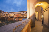 Arcades of Corridoio Vasariano and Ponte Vecchio Photographic Print by  Maremagnum
