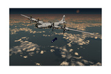 B-29 Superfortress Dropping Little Boy Atomic Bomb over Hiroshima Print