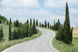 Winding Road, Tuscany, Italy Photographic Print by  Multi-bits