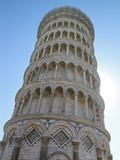 Leaning Tower of Pisa against Blue Sky Photographic Print by Photography by paulgmccabe