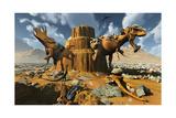 Living Fossils in a Desert Landscape Print