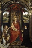 Madonna and Child with Donors and an Angel by Hans Memling Photographic Print