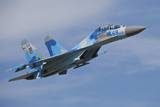 Ukrainian Air Force Su-27 Flanker Photographic Print