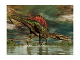 Spinosaurus Was a Large Theropod Dinosaur from the Cretaceous Period Posters