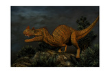 Ceratosaurus Was a Large Predatory Dinosaur from the Late Jurassic Period Prints