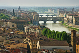 Florence. View of Ponte Vecchio over River Arno. Photographic Print by Norberto Cuenca