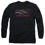 Long Sleeve: Airwolf - Grid T-shirts