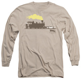 Long Sleeve: Back To The Future III - Pushing The Delorean T-shirts