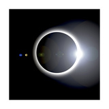 An Artist's Depiction of a Solar Eclipse Poster
